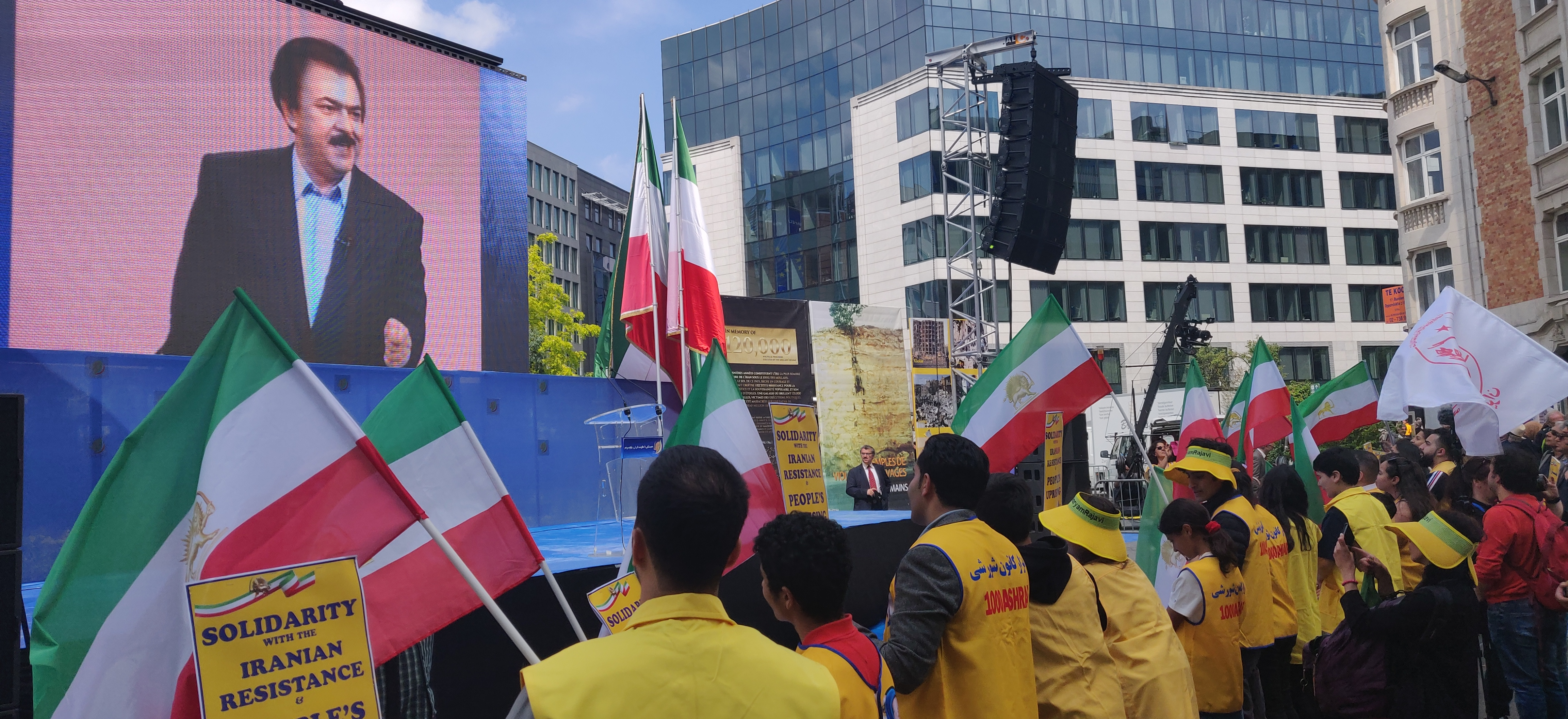 Demonstration mot iranska regimen, Bryssel, 15 juni 2019