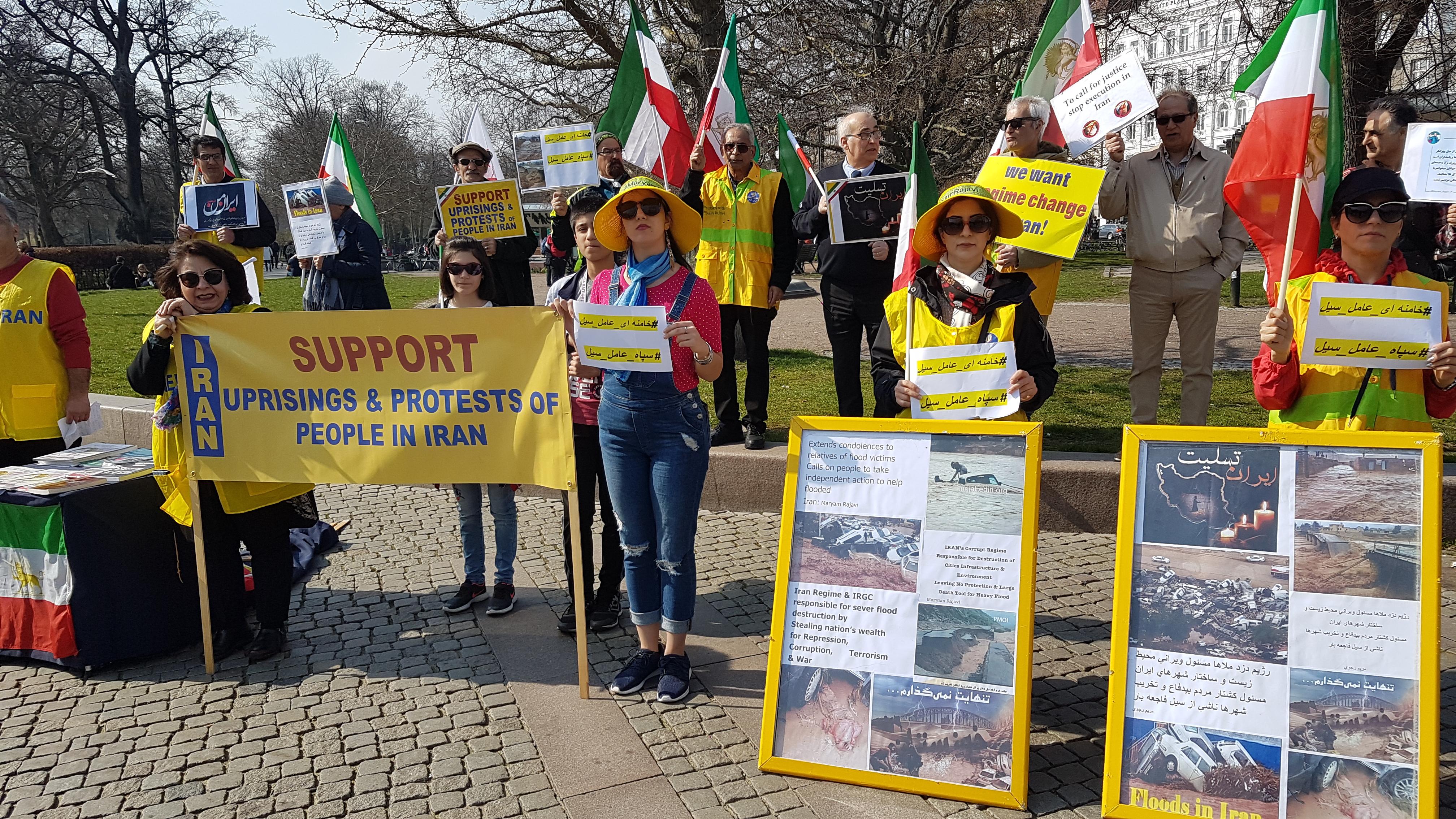 Stödaktion i Malmö i solidaritet med översvämningsoffer i Iran