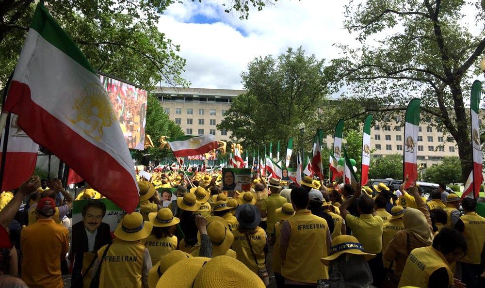 Solidaritetsmarsch i Washington DC för regimskifte i Iran, 21 juni