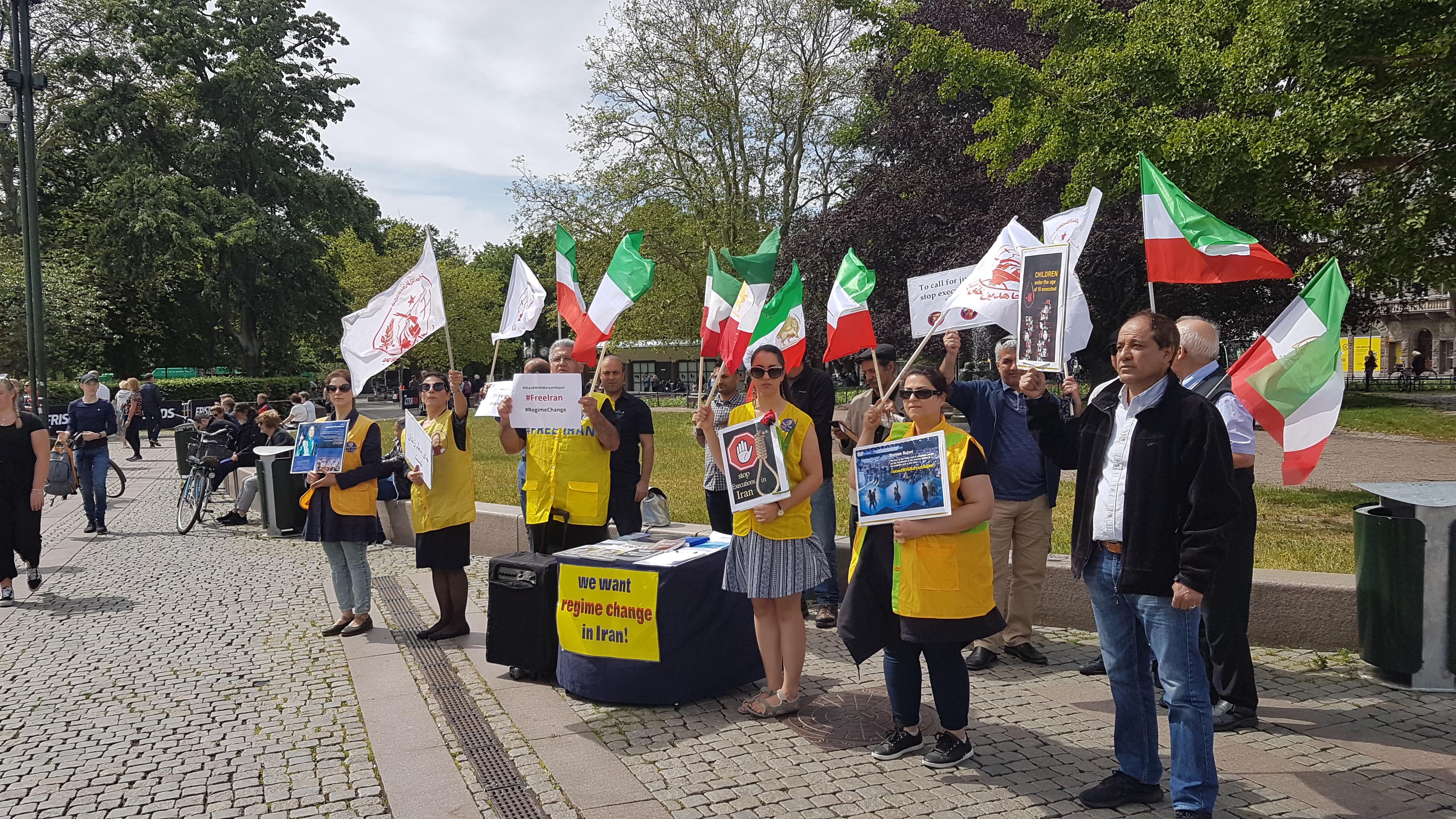 Stödaktion i Malmö för folkliga protester i Iran, den åttonde juni