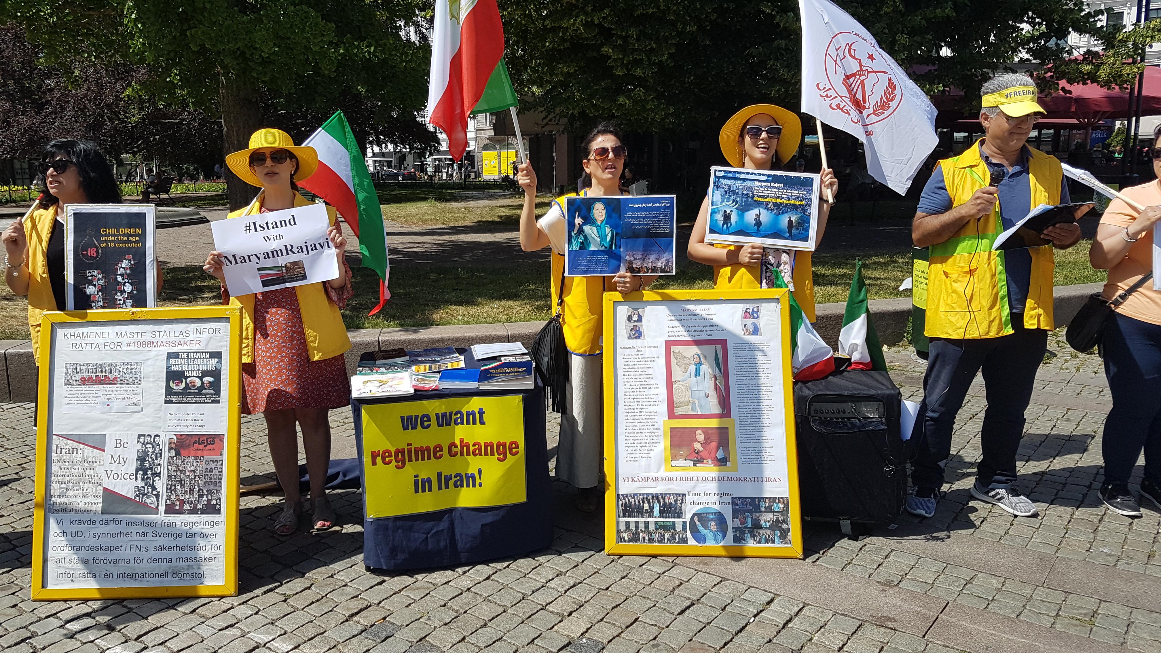 Stödaktion i Malmö för folkliga protester i Iran, den 29 juni